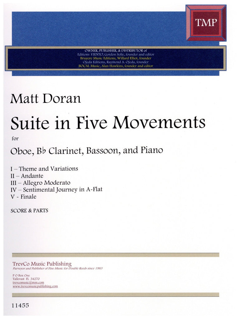 Doran, Matt % Suite in Five Movements-OB/CL/BSN/PN