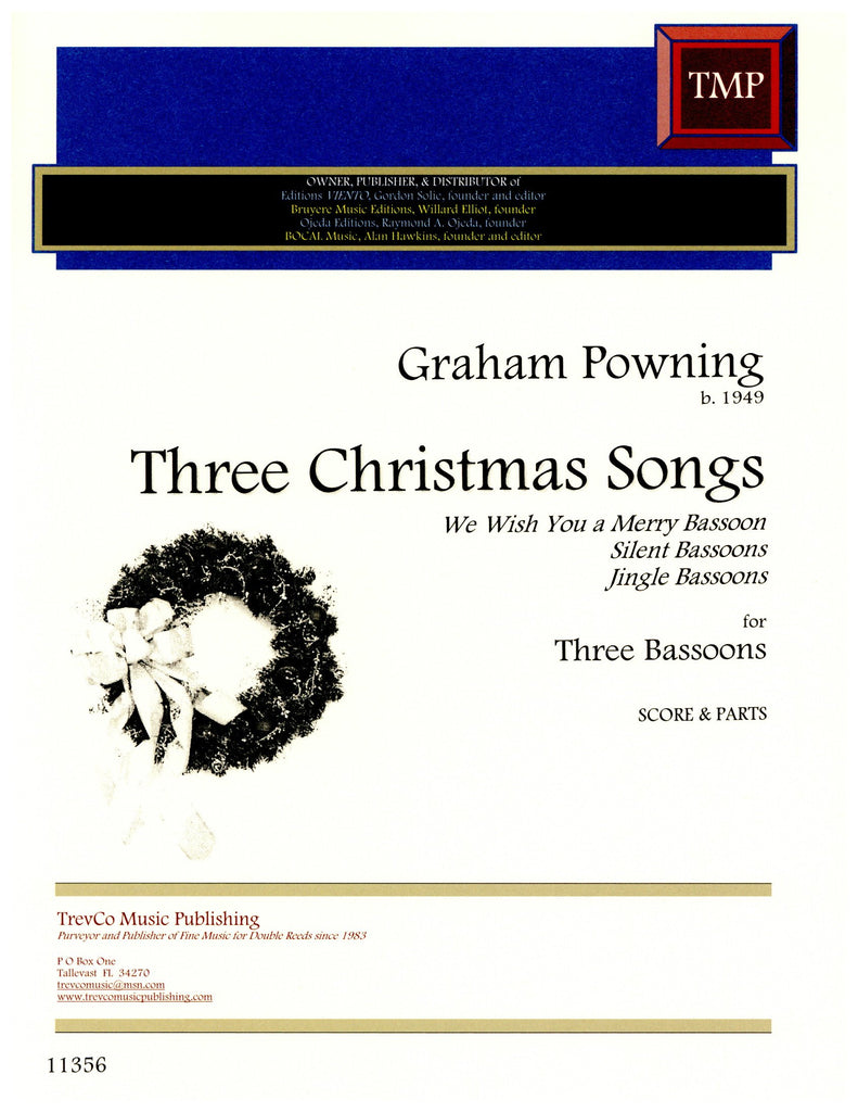 Powning, Graham % Three Christmas Songs (Score & Parts)-3BSN