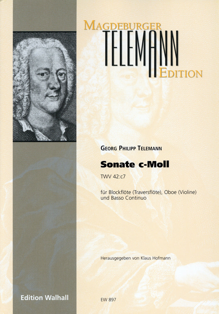 Telemann, Georg Philipp % Sonate in c minor TWV42:c7-FL/OB/BSN/PN