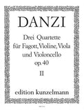 Danzi, Franz % Quartet Op 40 #2 (Parts Only)-BSN/STG3
