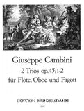 Cambini, Giuseppe % Two Trios Op 45 #1 & #2 (Parts Only)-FL/OB/BSN