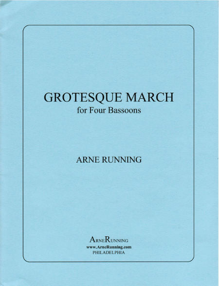 Running, Arne % Grotesque March (Score & Parts)-4BSN
