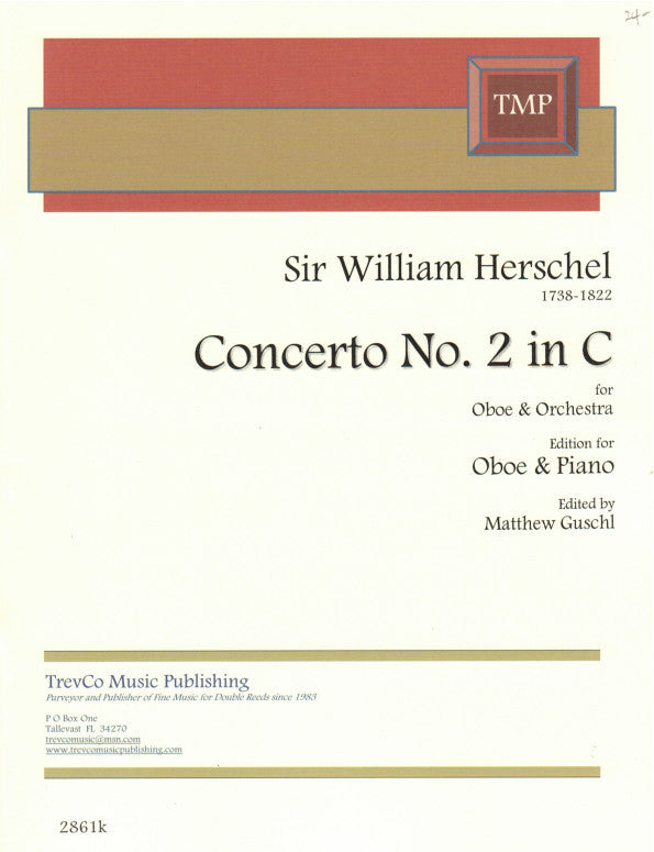 Herschel, Sir William % Concerto #2 in C Major-OB/PN