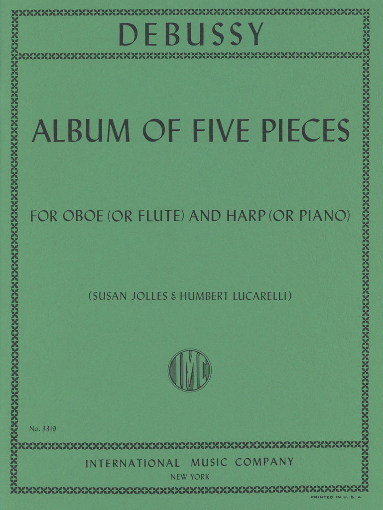 Debussy, Claude % Album of Five Pieces-OB/HARP or OB/PN