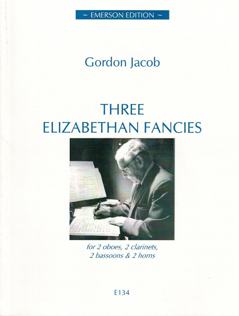 Jacob, Gordon % Three Elizabethan Fancies (Score & Parts)-WW8