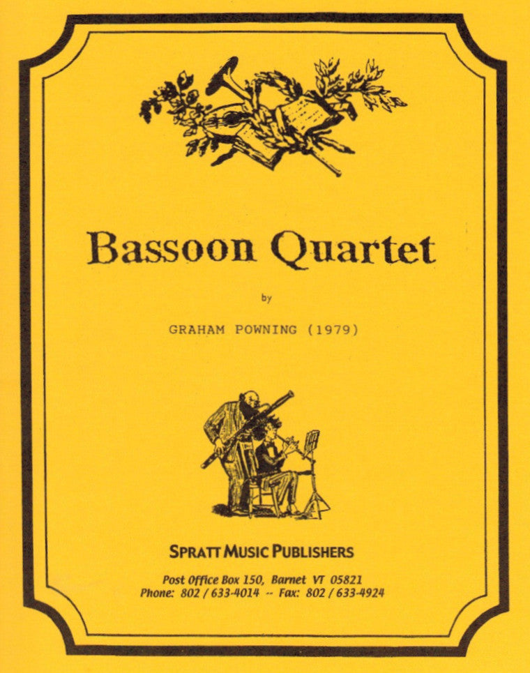 Powning, Graham % Bassoon Quartet (Parts Only)-3BSN/CBSN