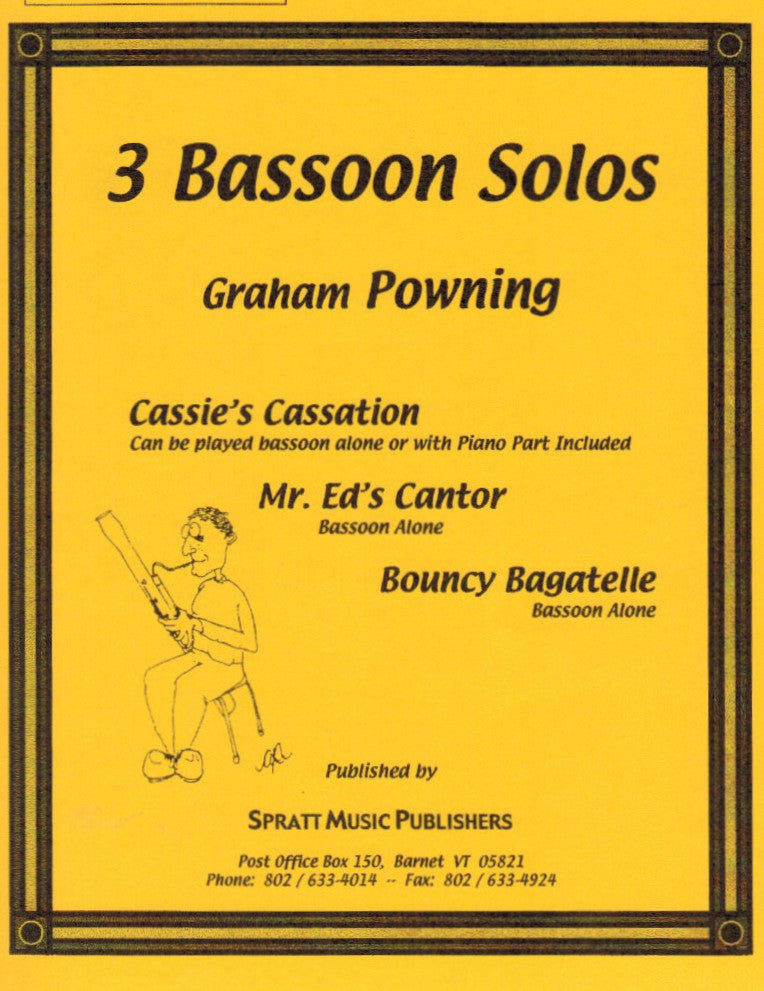 Powning, Graham % Three Bassoon Solos-SOLO BSN