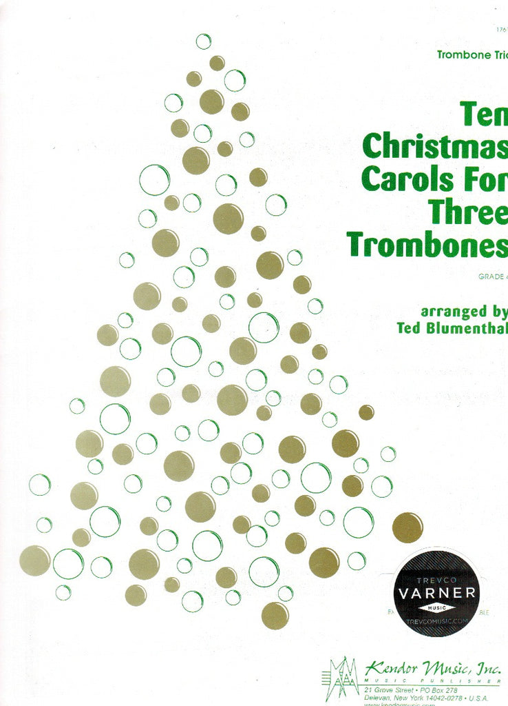 Blumenthal, Ted % Ten Christmas Carols (Score & Parts)-3BSN