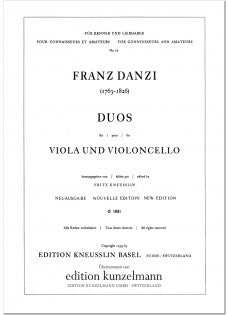 Danzi, Franz % Three Duos (Parts Only)-VLA/CEL or VLA/BSN