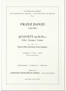 Danzi, Franz % Quintet in F Major Op 68 #2 (parts only)-WW5