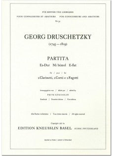 Druschetzky, Georg % Partita in Eb Major (Score Only)-2CL/2BSN/2HN