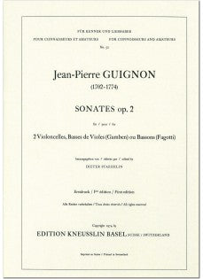 Guignon, Jean-Pierre % Two Sonatas Op 2 (Parts Only)-2BSN