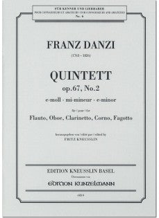 Danzi, Franz % Quintet in e minor Op 67 #2 (Parts Only)-WW5