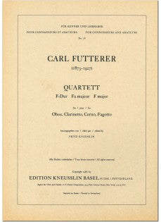 Futterer, Carl % Quartet in F Major (Parts Only)-OB/CL/HN/BSN