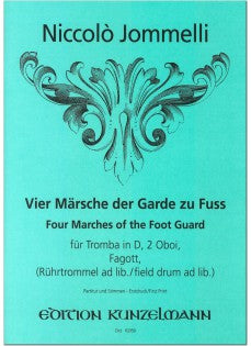Jommelli, Niccolo % Four Marches of the Foot Guard (Score & Parts)-TPT/2OB/BSN