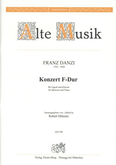 Danzi, Franz % Concerto in F Major-BSN/PN