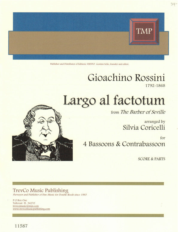 Rossini % Largo al factotum (Score & Parts)-4BSN/CBSN