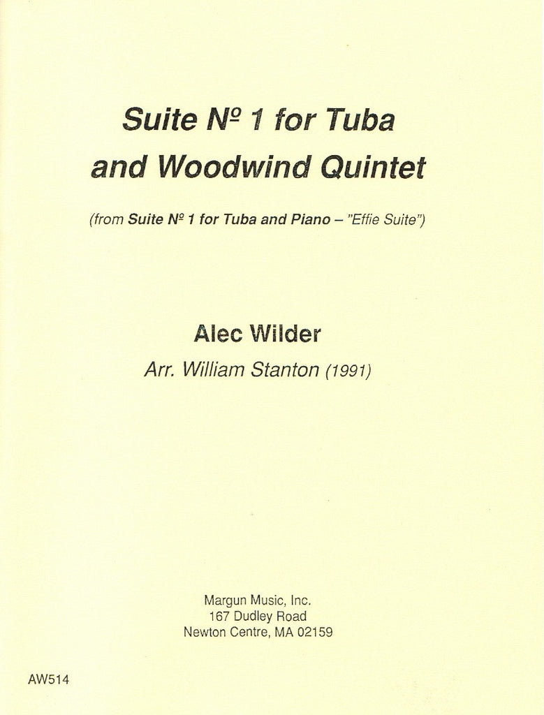 Wilder % Suite #1 Effie (Score & Parts)-WW5/TUBA