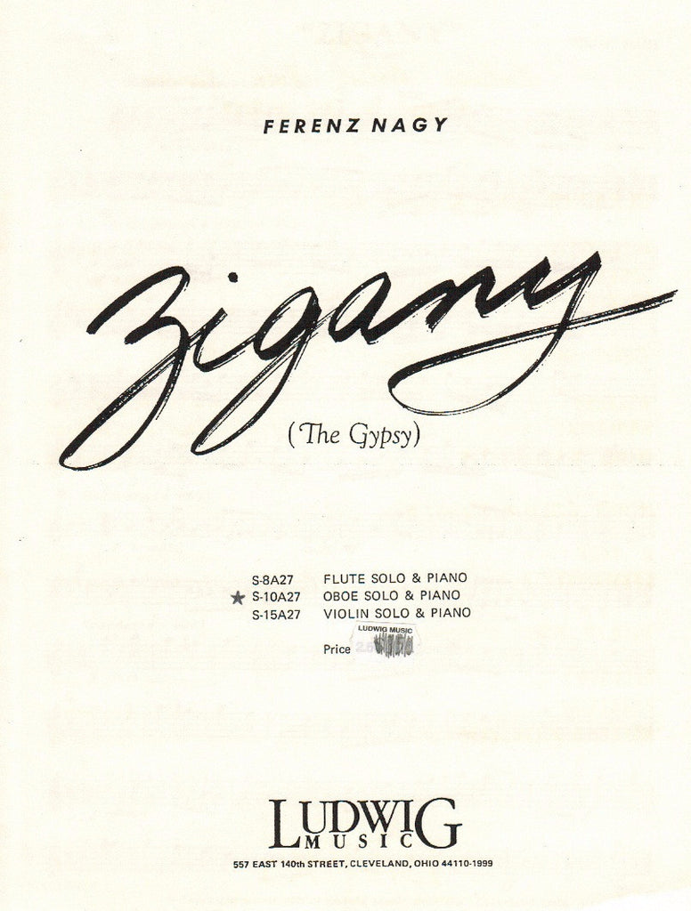 Nagy, Ferenz % Zigany (The Gypsy)-OB/PN