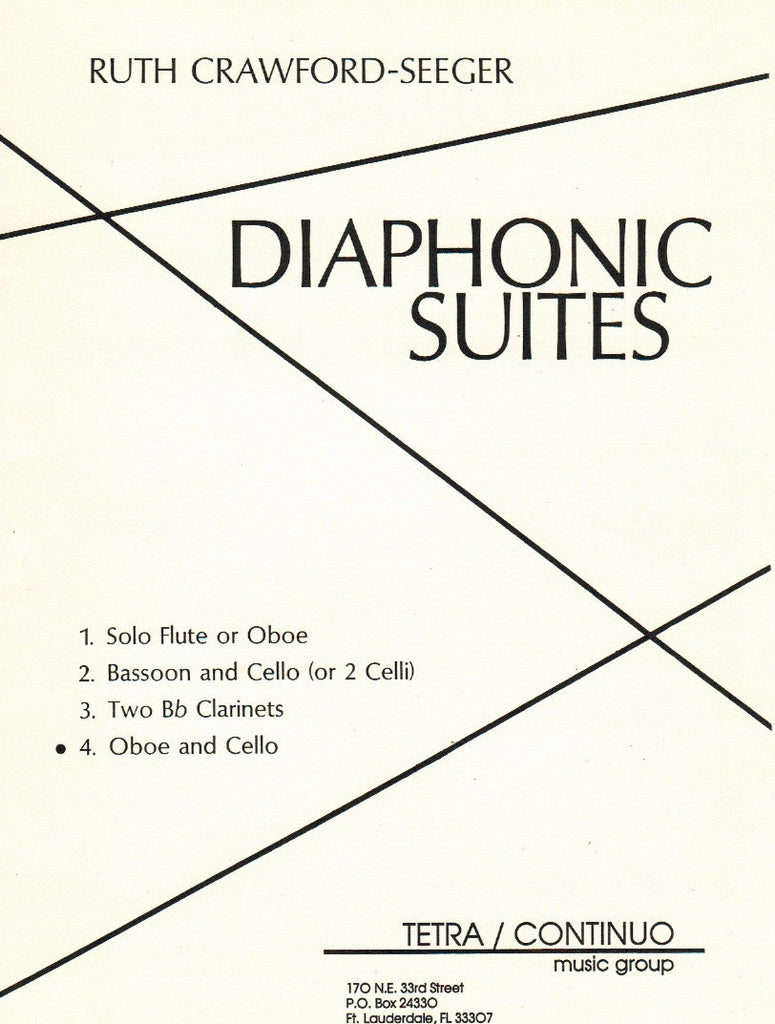 Crawford-Seeger, Ruth % Diaphonic Suite #4 (Score & Parts)-OB/CEL