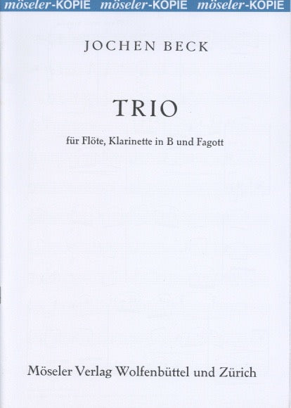 Beck, Jochen % Trio (Score & Parts)-FL/CL/BSN