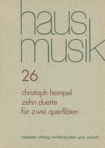 Hempel, Christoph % Ten Duets (Performance Score)-2FL or 2OB
