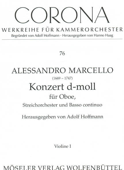 Marcello Oboe Concerto dminor MOS - parts