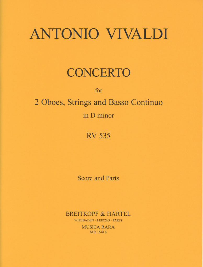 Vivaldi, Antonio % Concerto in d minor F7 #9 RV535 (score & set)-2OB/STGS