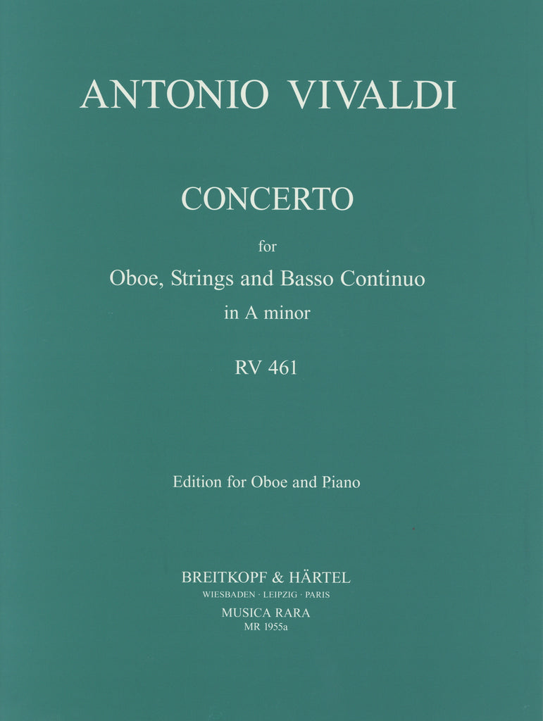 Vivaldi, Antonio % Concerto in a minor F7 #5 RV461-OB/PN