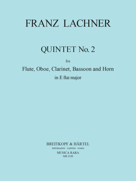 Lachner, Franz % Quintet #2 in Eb Major (Parts Only)-WW5