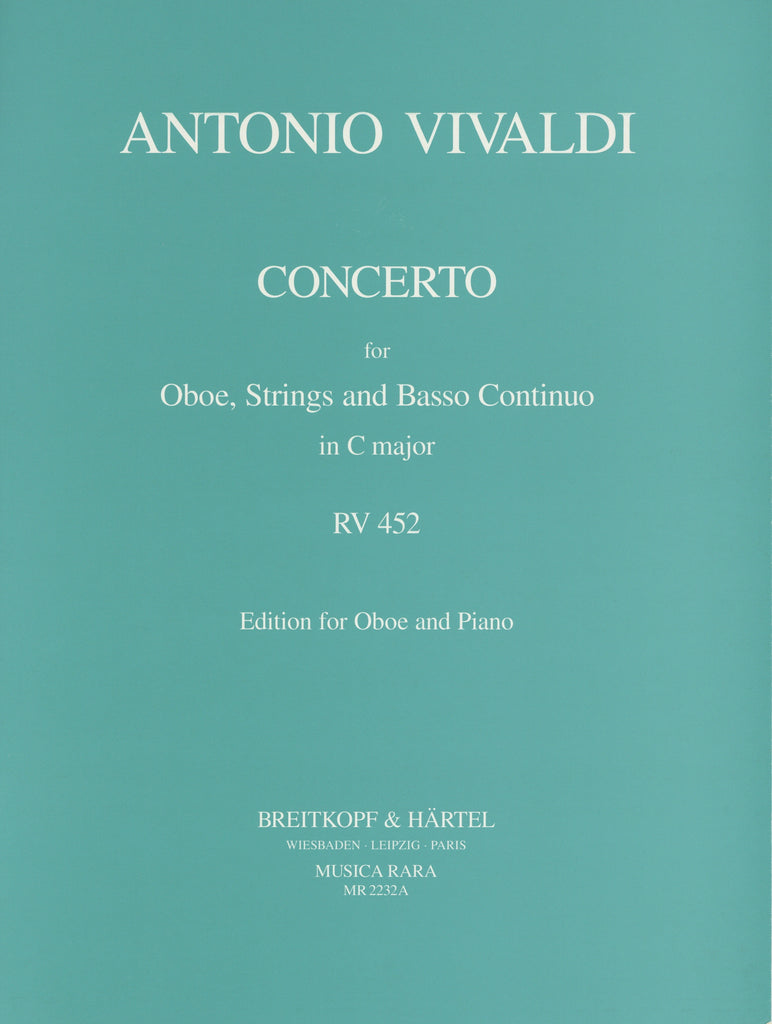 Vivaldi, Antonio % Concerto in C Major F7 #17 RV452-OB/PN