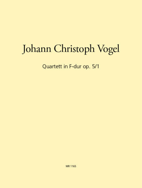 Vogel, Johann Christoph % Quartet in F Major Op 5 #1 (Score & Parts)-BSN/VLN/VLA/CEL