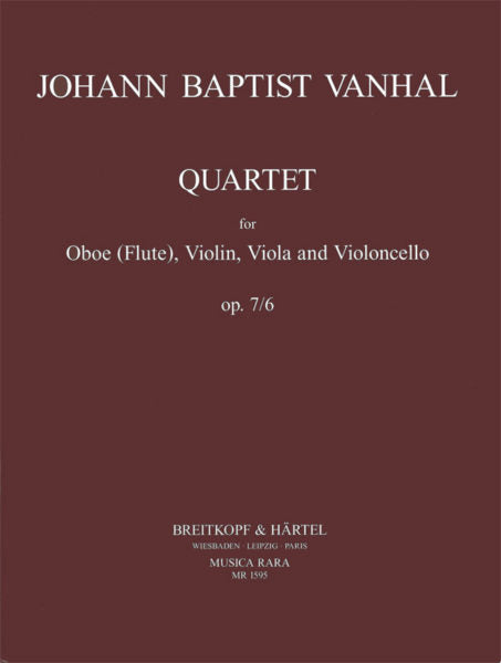Wanhal, Johann Baptiste % Quartet in C Major Op 7 #6 (Parts Only)-OB/STG3