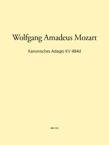 Mozart, Wolfgang Amadeus % Canonic Adagio K484d (Score & Parts)-2CL/BSN