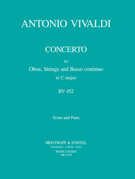 Vivaldi, Antonio % Concerto in C Major F7 #17 RV452 (Score & Parts)-OB/STGS