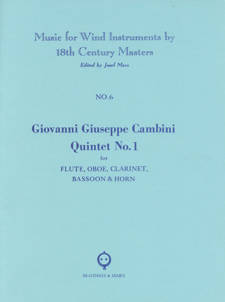 Cambini, Giuseppe % Quintet #1 (parts only)-WW5