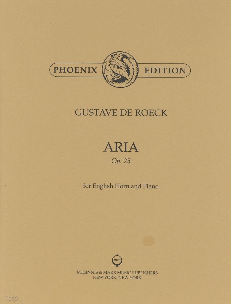 De Roeck, Gustave % Aria Op 25-EH/PN