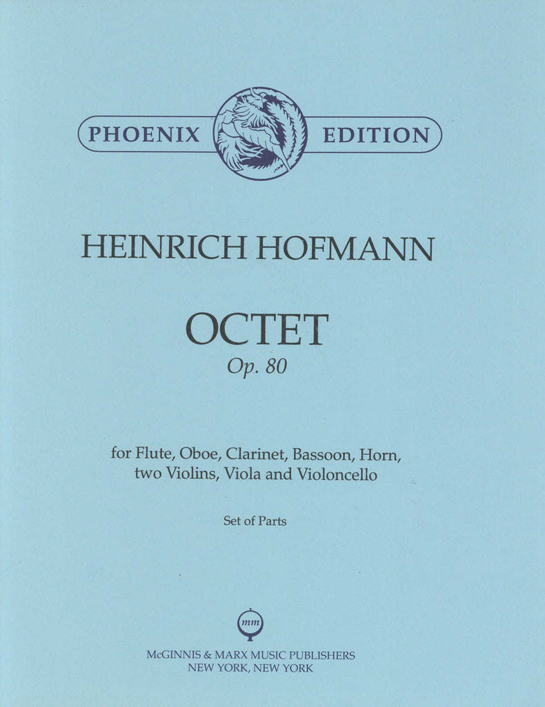 Hofmann, Heinrich % Octet Op 80 (Parts Only)-FL/CL/BSN/HN/STG4
