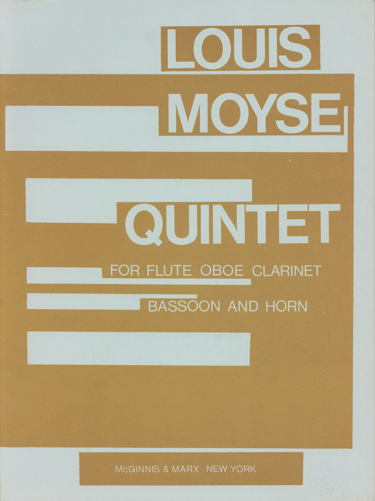 Moyse, Louis % Quintet (Parts Only)-WW5
