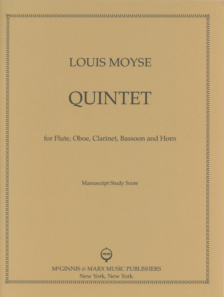 Moyse, Louis % Quintet (Score Only)-WW5
