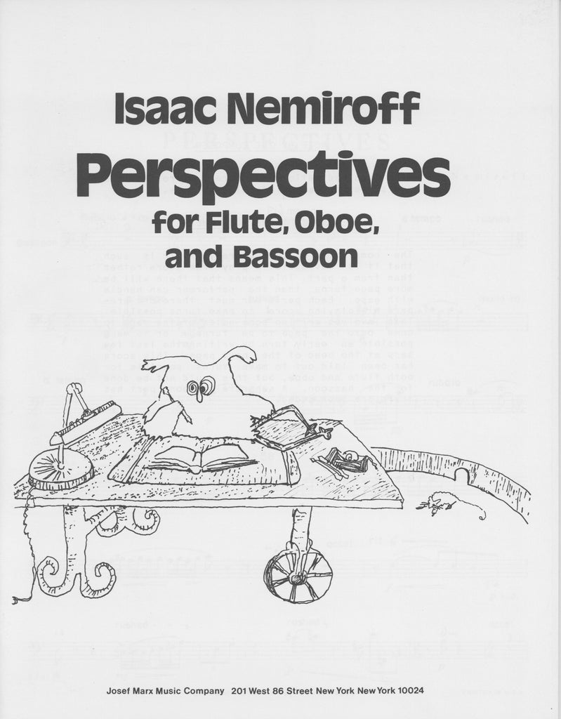 Nemiroff, Isaac % Perspectives (Score & Parts- See Note)-FL/OB/BSN