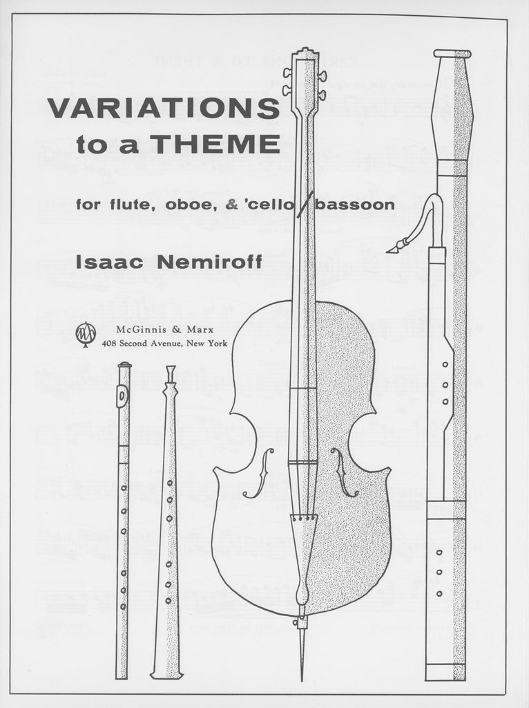Nemiroff, Isaac % Variations to a Theme (Score & Parts)-FL/OB/BSN or FL/OB/CEL