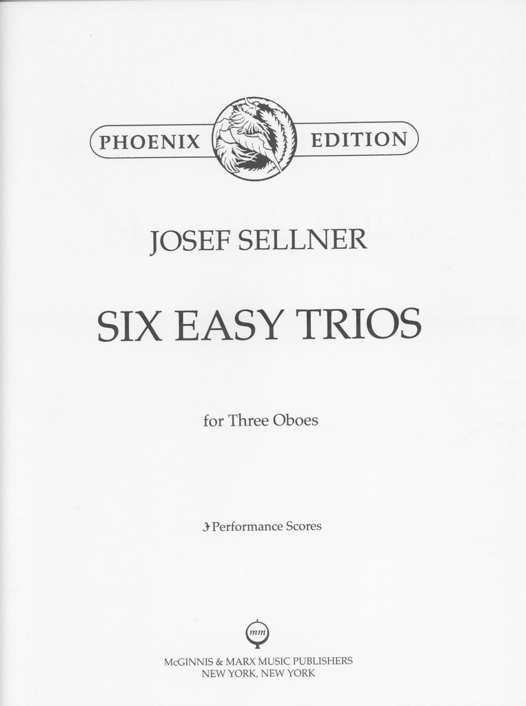 Sellner, Joseph % Six Easy Trios (Performance Scores)-3OB