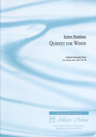 Washburn, Robert % Quintet For Winds (Score & Parts)-WW5