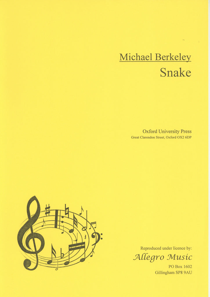 Berkeley, Michael % Snake-SOLO EH or SOLO OB
