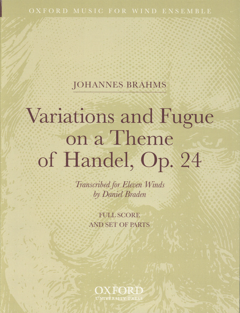 Brahms, Johannes % Variations & Fugue on a Theme of Handel Op 24 (Parts Only)-11Winds