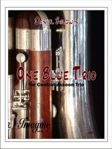 Baldwin, Daniel % One Blue Trio (Score & Parts)-3CBSN