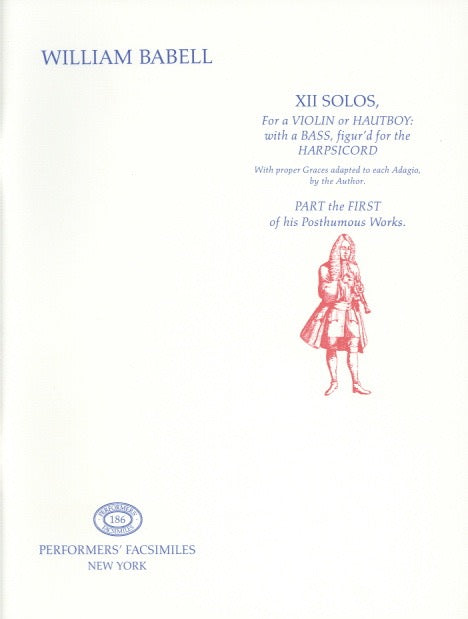 Babell, William % XII Solos Book 1-OB/PN (Basso Continuo)