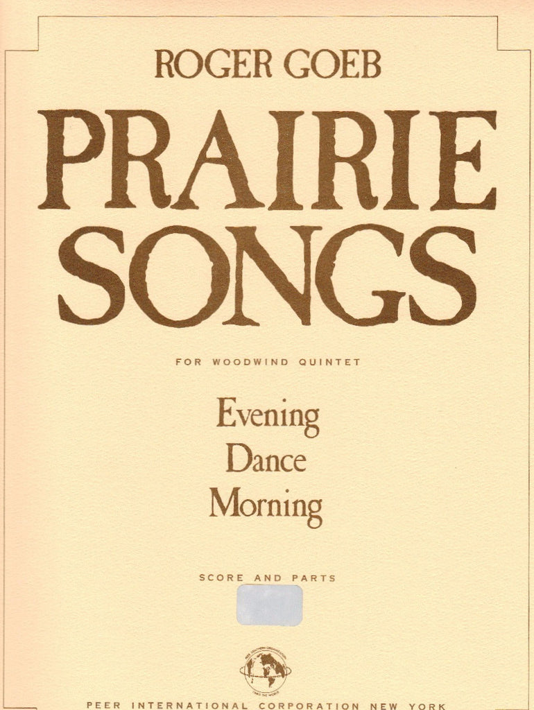 Goeb % Prairie Songs (Score & Parts)-WW5