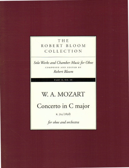 Mozart K314 Bloom Edition - Cover